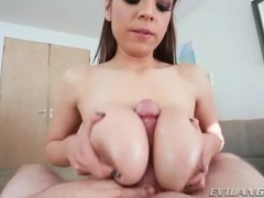 Slippery wet titjob from slut yurizan beltran movies at freekiloclips.com