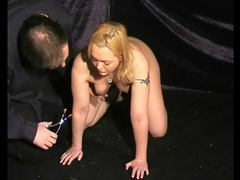 Clamps hang off her nipples and make her hurt movies at kilopics.net