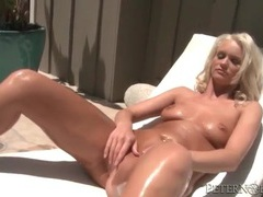 Sexy bleach blonde gives good head to big cock movies at sgirls.net