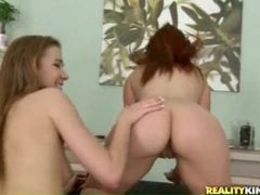 Redhead and lesbian brunette pussy eating video videos