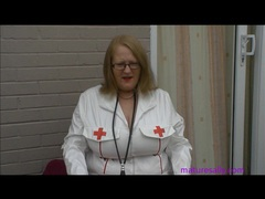 Mature in pvc nurse outfit tubes