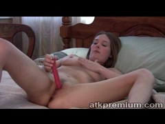 Dildo fuck girl with gorgeous big natural tits videos
