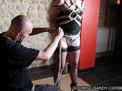 French shibari soumise sandy en bondage no sex videos