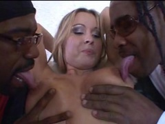 She sucks black dick as another eats out her pussy videos