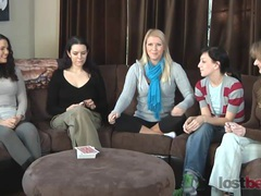 Strip screw-your-neighbor with zayda, lucretia, ashley, elise, and natalia videos
