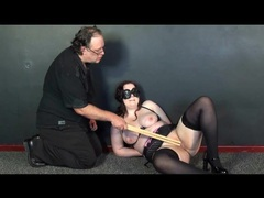 Bound girl in stockings does pain fun videos