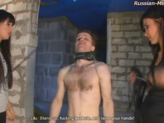 Bound man roughly abused by two russian girls videos
