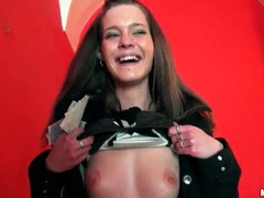 Cute amateur shows tits and pussy at museum movies at kilopics.net