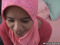 Asian amateur in head scarf sucks then fucks videos