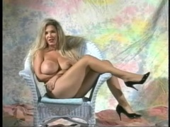 Retro porn with a huge fake tits girl solo videos