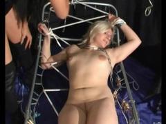 Watch her face as she takes pain in bdsm video videos