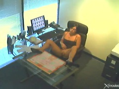 Masturbating in office on security camera movies at find-best-videos.com