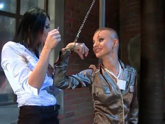 Pouring water on a sexy girl in a satin blouse movies at freekiloporn.com