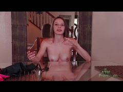 Topless teenage girl in braces talks to the camera movies at kilopics.net