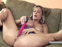 Horny housewife leeanna fucks her toy movies at kilosex.com