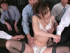 Many hands fondle a hottie and vibrate her pussy videos