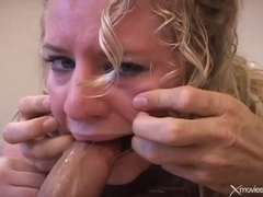 Cute blonde with curly hair gives loving blowjob movies at sgirls.net