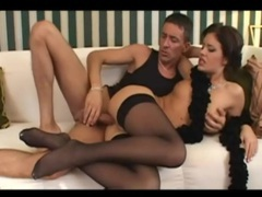 Anally fucking a cutie in black stockings videos