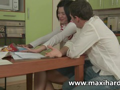 Fuck my ass on the kitchen table movies at kilosex.com