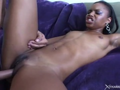White dick pounds black cunt of skinny girl videos