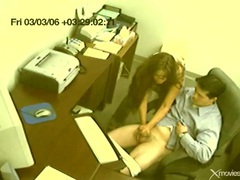 Boss gets a hot handjob at the office movies at kilotop.com