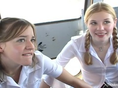 Schoolgirls on the bus suck cock and fuck movies at find-best-hardcore.com