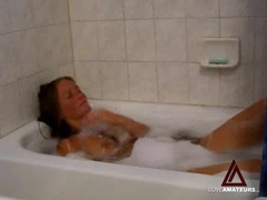 Amateur striptease and masturbation in bathtub movies at find-best-mature.com