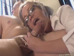 Milf secretary with glasses fucked videos