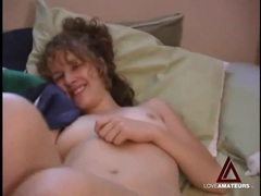 Adorable girlfriend eaten out in bed videos