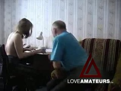 Old guy fucks that shaved pussy in hot video movies at kilopics.net