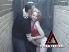 Fingering his wife and getting sucked in alley videos