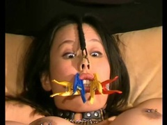 Pierced nips and pussy girl in sexy bdsm video movies at kilotop.com
