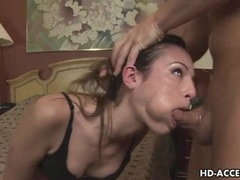 Extreme deep throat blowjob from hot babe videos