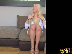 Fakeagentuk hot blonde young amateur tricked in casting interview videos