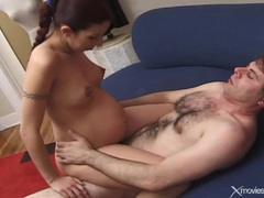 Pregnant beauty blows him and they fuck movies at kilopics.net
