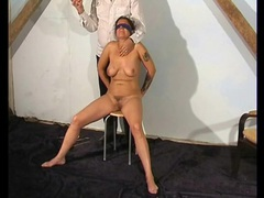 Blindfolded and bound girl taking hot wax play movies at find-best-babes.com
