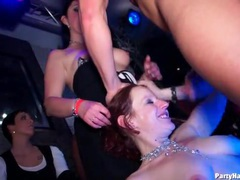 Dirty girls jerking off cocks and dancing at party videos