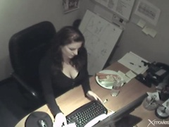 Beauty in office fucks pussy with a carrot videos