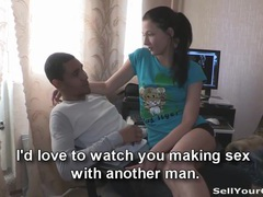 Sell your gf - ebony guy sells his white gf movies at adipics.com
