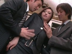 Sexy japanese secretary in a threesome tubes at japanese.sgirls.net