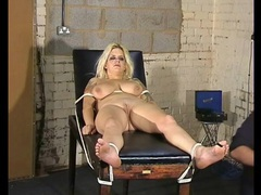 Bound girl is worn out from hot wax play movies at adipics.com