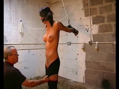 Blindfolded and bound girl with big fake tits movies at kilovideos.com
