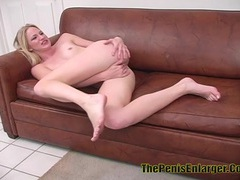 Petite blonde babe nailed in the ass and got creampie videos