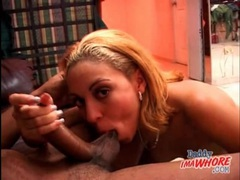 Sucking his knob is fun for the young lady videos