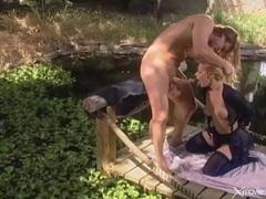 Beautiful sex with a blonde babe outdoors videos