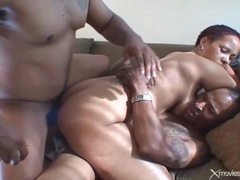 Black guys do a dp with this slutty black chick videos