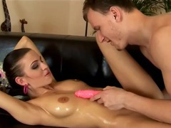 Young babe is oiled up and eager for a cunt fuck movies at kilopics.com