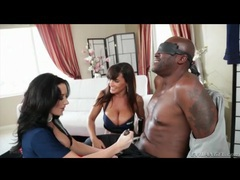 Bound black man sits as hot chicks eat pussy videos