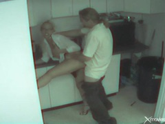 Couple caught fucking in the office break room videos
