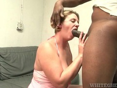 Fatty gives good head to a big black cock videos